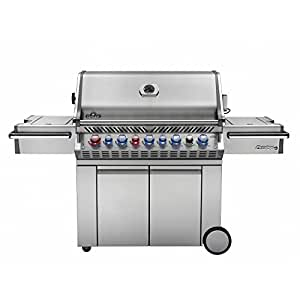 Napoleon s Prestige PRO 665 with Infrared Rear and Side Burner Stainless Steel Propane Gas