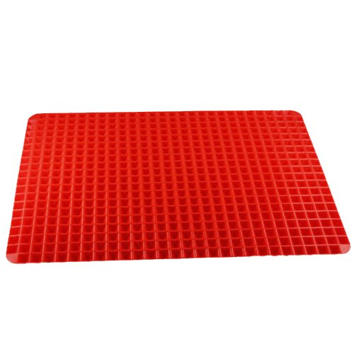 Lautechco Nonstick Silicone Baking Mat Mould Cooking Mat Oven Baking Tray Red Pyramid Pan