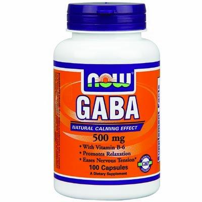Now Foods GABA 500 mg + B-6 2 mg -