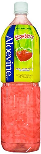 Aloevine: Strawberry Aloe Drink 16.9 Oz (10 Pack)