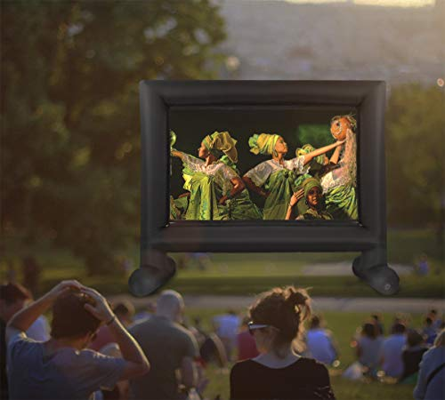 Z N NOZZCO Outdoor Projector Screen – 14 ft Inflatable Family TV – Portable Giant Projector – Lightweight Garden Screen – Premium Outdoor Tent for Parties – Dual Projection – Build-in Air Blower by Z N NOZZCO (Image #4)