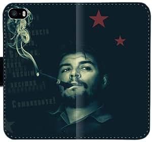 Che Guevara E0P1N Funda iPhone 6 6S Plus 5.5 caja de la carpeta de cuero Funda Caso de encargo o7G1ri tapa del teléfono celular fundas de protección
