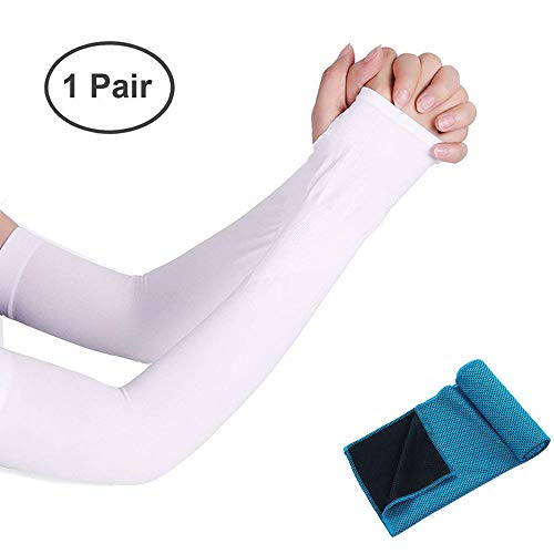 Talshy Arm Sleeves Men Women UV Protection Cooling Arm Warmers Sports Arm Gloves Compression Sleeves tattoo Covers Cooling Towel Boy Girls Cycling Running Basketball Football Golf ()