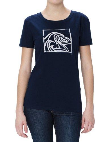 Roxy Good Looking / XMWJE95218 T-shirt Femme Bleu foncé Taille XS / 32-34