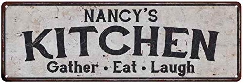 NANCY's Kitchen Personalized Rustic Chic Decor Gift 8x24 Sign 108240051158