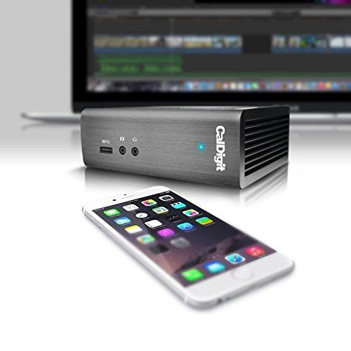 CalDigit Thunderbolt Station 2 eSATA 6G, 4K, USB 3.0, HDMI and Ethernet Ports (TS2-US-6010)