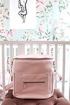 Lederrucksack Damen Mit Wasserdicht Wickelunterlage,Kinderwagen Haken Olive Cabrio Wickelrucksack von Miss Fong Baby Wickelrucksack Wickeltasche Rucksack