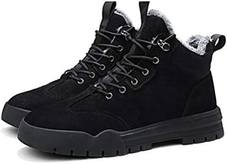 ブーツ メンズ ブラック 秋冬 裏起毛 マーチンシューズ 暖かい 防滑 防寒 カジュアル マーティンブーツ 滑り止め 無地 アウトドア 通勤用 メンズ靴 ウォーキングシューズ 綿靴 厚底 ワークブーツ 作業ブーツ