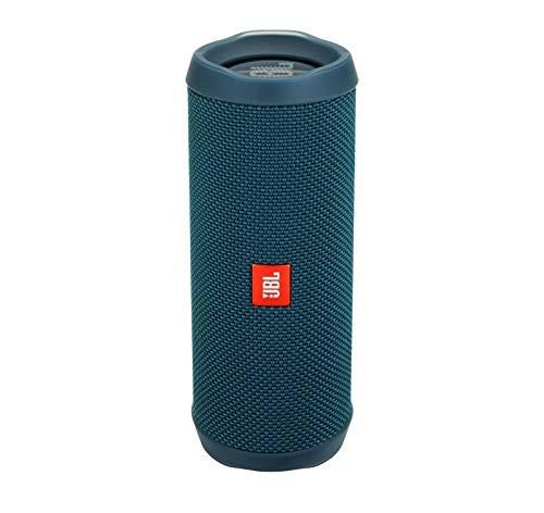 JBL Flip 4 Waterproof Portable Bluetooth Speaker – Ocean Blue (Renewed)