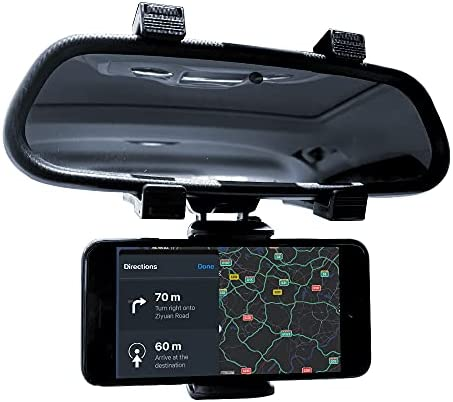 Aular Universal 360° Car Rearview Mirror Mount Stand Holder Cradle for Cell Phone GPS Car Rear View Mirror Holder