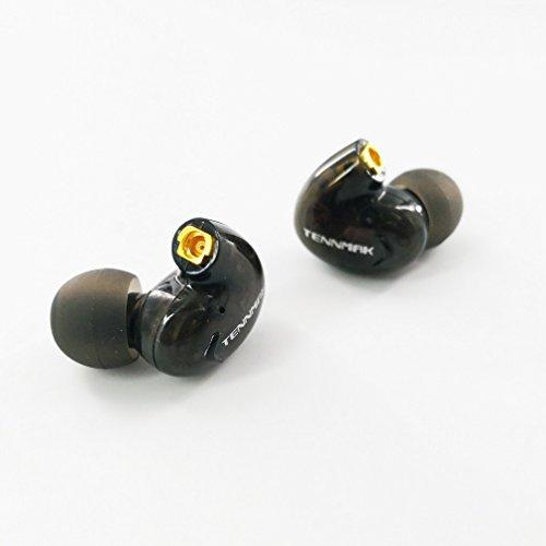 Tennmak PRO Earphone Accessory Clear Ear Head Unit for MMCX Sport Running Gym Replace in Ear Earphones Earbuds Headphones, Dual Drivers Earphone Ear Head (PRO Ear Head) (Black)