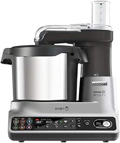 Kenwood CCL455SI 500W 4.5L Negro, Plata - Robot de cocina (4,5 L, Negro, Plata, Corte, 30-180 °C, Acero inoxidable, De plástico): Amazon.es: Hogar