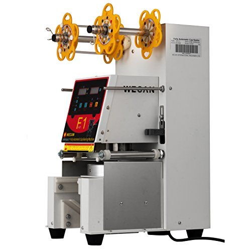 Happybuy 420W Commercial Automatic Cup Sealing Machine 500~650 Cups/H Electric Cup Sealer Machine W/Digital Control for Sealing PP PET Paper Cups -