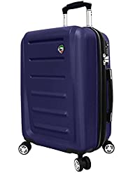 Mia Toro Moderno Hardside 24 Inch Spinner, Blue, One Size