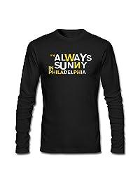 Kittyer Men's It's Always Sunny In Philadelphia Long Sleeve Cotton T Shirt