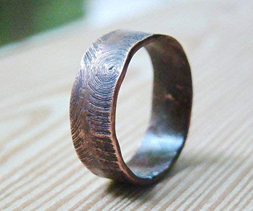 Custom Mens Wedding Bands.Wood Textured Mens Wedding Ring Band Oxidized Custom Jewelry