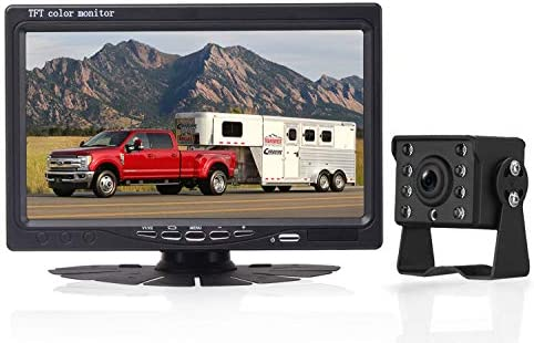 Amtifo HD 720P Backup Camera Kit,7 Inch Monitor With Rear View Camera System Designed For Cars,Pickups,Trucks,Trailers,RVs,Easy Installation