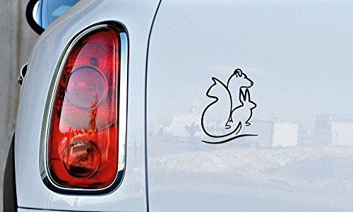 Dog Cat Rabbit Sketch Car Vinyl Sticker Decal Bumper Sticker for Auto Cars Trucks Windshield Custom Walls Windows Ipad Macbook Laptop and More (BLACK) ()