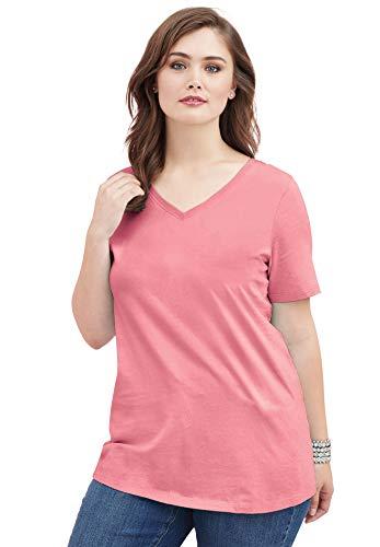 Roamans Women's Plus Size Ultimate V-Neck Tee - Tee V-neck Ultimate