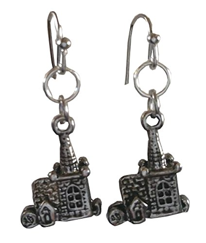 Snow White and the Seven Dwarves Cottage Dangle Earrings