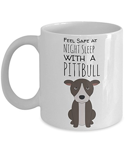 Pitbull Puppy Mug for Dog Lovers - Pit Bull Dog Mug - Cute Inspirational White Mug - Animal Mugs For Women - Beautiful Coffee Cups For Dog (Cute 11 Year Old Guys)