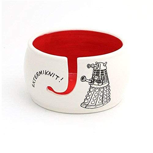 Doctor Who Yarn Knitting Bowl - Extermiknit