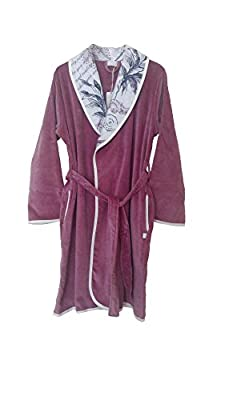Black Rose Organic Ornament Collection, 100% Organic Turkish Cotton Bathrobe For Women - Made in Turkey