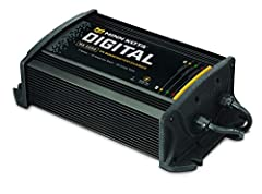 Minn Kota 1822105 MK-210D 2-Bank On-Board Battery ChargerThis digital on-board charger is engineered with a micro-processor-based designed to protect your battery, charge faster, and help you stay on the water longer. With 2 banks x 5 amps ea...