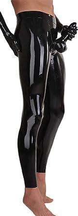 Amazon Com Avacostume Mallas Pantalones De Latex Para Hombre Con Pene Vaina Anaranjado Clothing