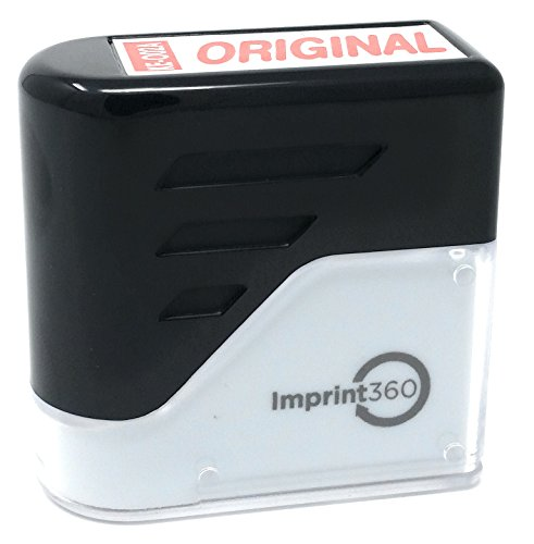 Pre-Inked Rubber Stamp - Red Ink. Up to 3x More Impressions than Self-Inking Stamps (Inked Fox)