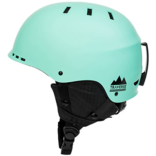 Traverse Sports 2149 2-in-1 Convertible Ski and Snowboard/Bike and Skate Helmet, Matte Ice Green, Large/X-Large