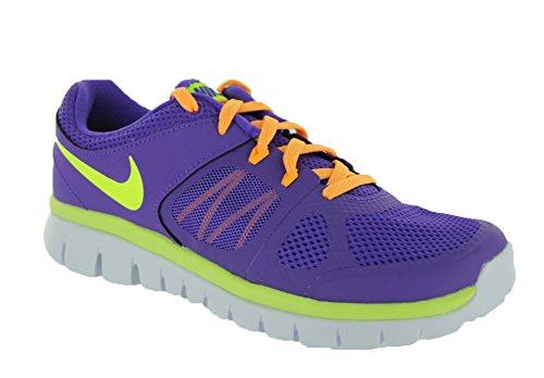 Nike Niños Revolución 3 (PSV) zapatos para correr (11 M US niño pequeño, gris / verde) Purple Venom/Atomic Mango/White/Volt
