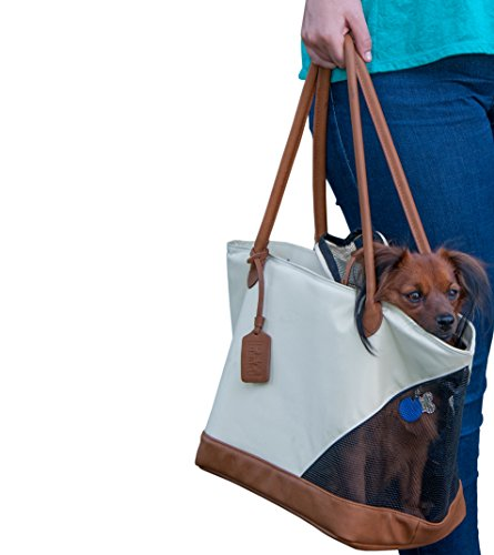 Pet Gear Tote Bag Carrier for Cats/Dogs, Storage Pocket, Removable Washable Liner, Zippered Top and Mesh Windows ()