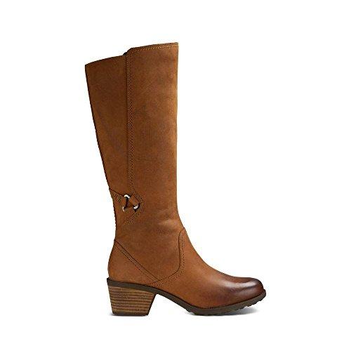 Teva Women's W Foxy Tall Leather Boot,Cognac,9 M US