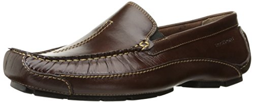 Rockport Men's Luxury Cruise Center Stitch Slip-On Loafer- Brown-10 (Rockport Driving Shoes)