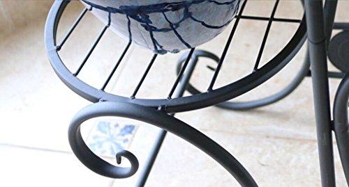 Jcrnjsb scaffali per fiori stile europeo sgabello da ferro