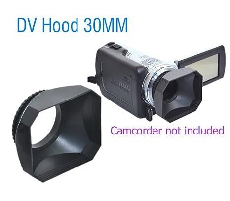 JJC DV30 30mm Lens Hood with Cap for Digital Video DV Camcorders