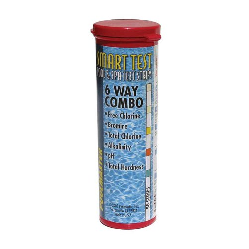 Poolmaster 22212 Smart Test 6-Way Pool and Spa Test Strips - 50ct