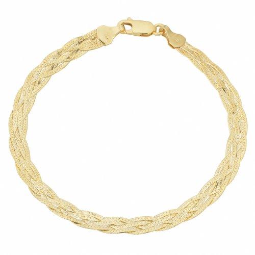 Yellow Gold Braided Bracelet - 8