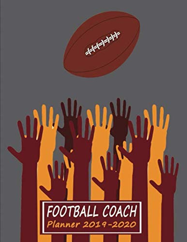Youth Football Drill Book: 2019 to 2010 Academic Year Youth Coaching Notebook, Calendar, Blank Field Pages & Team Roster - Many Hands (Coach Journal - Football)