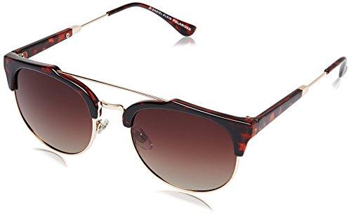 Daniel Klein Polarized Round Women's Sunglasses – (DK4003-COL4 53 Gradient Brown)