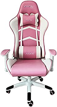 Cadeira Gamer MX5 Giratoria Branco e Rosa MYMAX