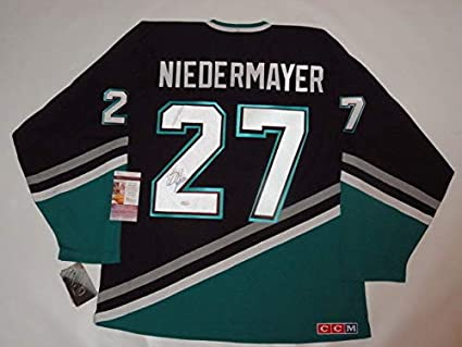 outlet store 90909 f0a0a Scott Niedermayer Autographed Signed Vintage Anaheim Mighty ...