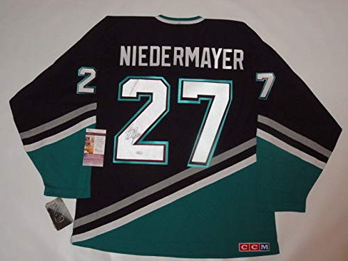 Scott Niedermayer Autographed Signed Vintage Anaheim Mighty Ducks Jersey Licensed - JSA Authentic