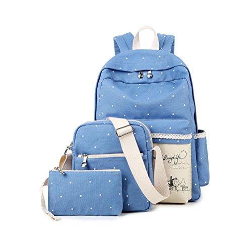 3344aa93e82f4 Inwagui Rucksack Canvas Laptop Rucksäck Segeltuch Schulter Rucksack  Schultaschen Umhängetasche Handtasche Canvas Sling Bag Outdoor Sporttasche