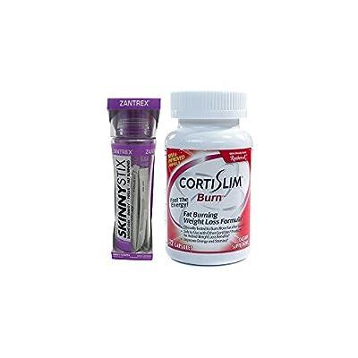 Basic Research Zantrex Skinny Stix Grape 25 ea and Cortislim Burn Formula