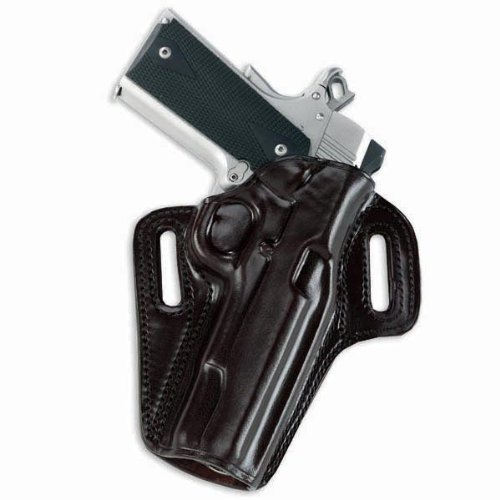 Galco Concealable Belt Holster for 1911 5-Inch Colt, Kimber, para, Springfield (Black, Right-Hand)