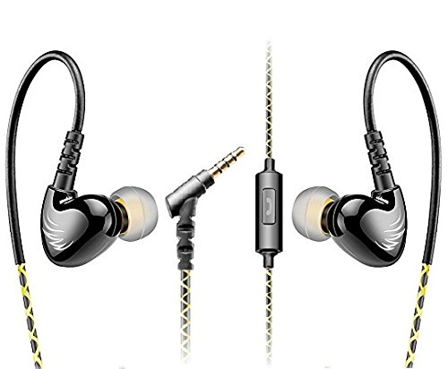 XRONG Sports Headphones Audio Headphones in-Ear with Ear Buds Mic/Controller for iPhone iPod iPad MP3 Players Samsung Nokia Mobile Phone
