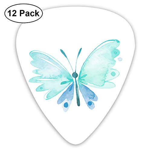 Watercolor Butterfly Garden Small Medium Large 0.46 0.73 0.96mm Mini Flex Assortment Plastic Top Classic Rock Electric Acoustic Guitar Pick Accessories Variety Pack