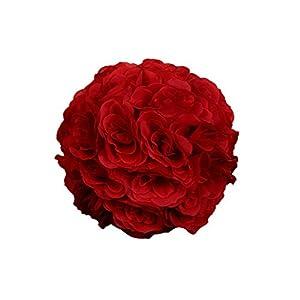 dds5391 7inch Silk Flower Kissing Ball Artificial Rose Wedding Party Pomander Decoration 48
